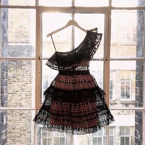 NWT SELF-PORTRAIT Floral Chain Lace Mini Dress